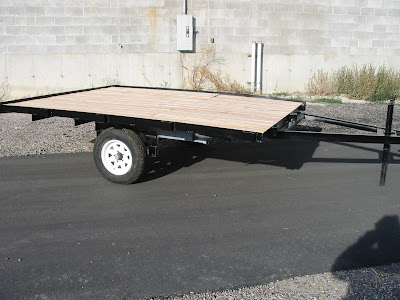 how to build a snowmobile trailer