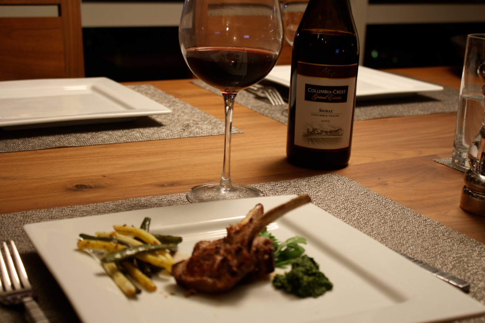 Grilled Lamb Chops with Balsamic Honey Glaze and Mint Pesto