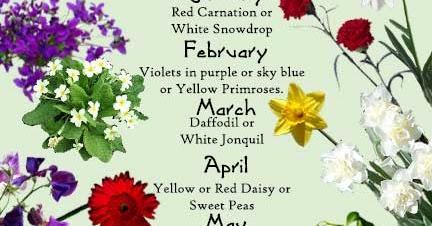 Random Knowledge Birth Month Flower
