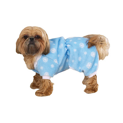 Snowflake pajamas for your dog