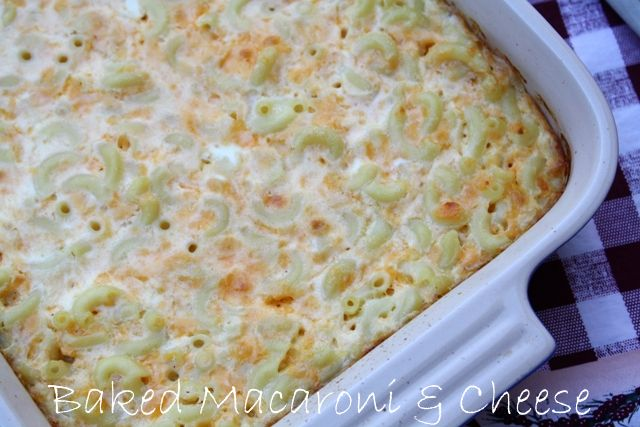 ... my Texas Kitchen: Baked Macaroni and Cheese {The Deen Brothers Recipe