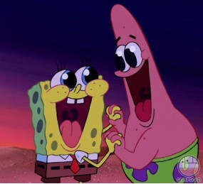 mbombonkaret manisasemasin: Spongebob and Patrick Star are GAY !!