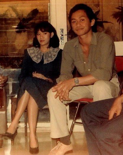 Christine Panjaitan bersama Addie MS , yang juga pernah menaksirnya