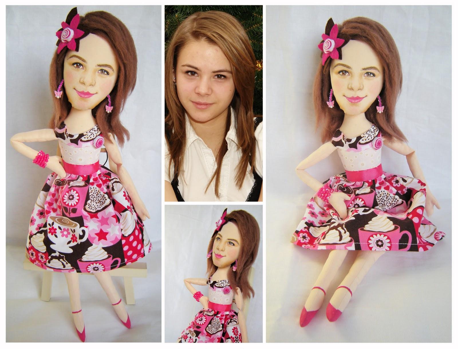 Как сделать волосы для портретная кукла 901