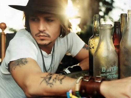 johnny depp chest tattoos. Johnny Depp Jack Tattoo.