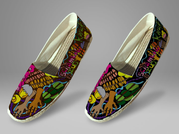 Painted Espadrille Shoes