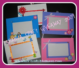 SARARISA CRAFT GIVEAWAY CONTEST 2009( 2ND PRIZE)