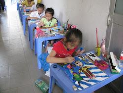 Hội thi vẽ tranh tại bảo tàng Tôn Đức Thắng