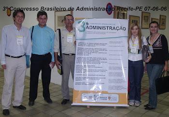 III Congresso Brasileiro de Administração-Recife-PE / Orientação de 04 artigos