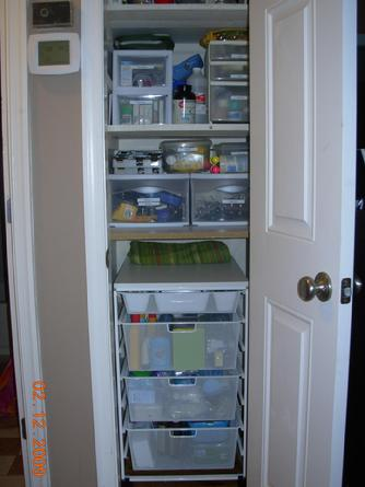 I Find That The Hall Closet Is Often The Everything Closet; If You Donu0027t  Know Where To Put Something It Goes There. When We Were Still In Our  Apartment Our ...