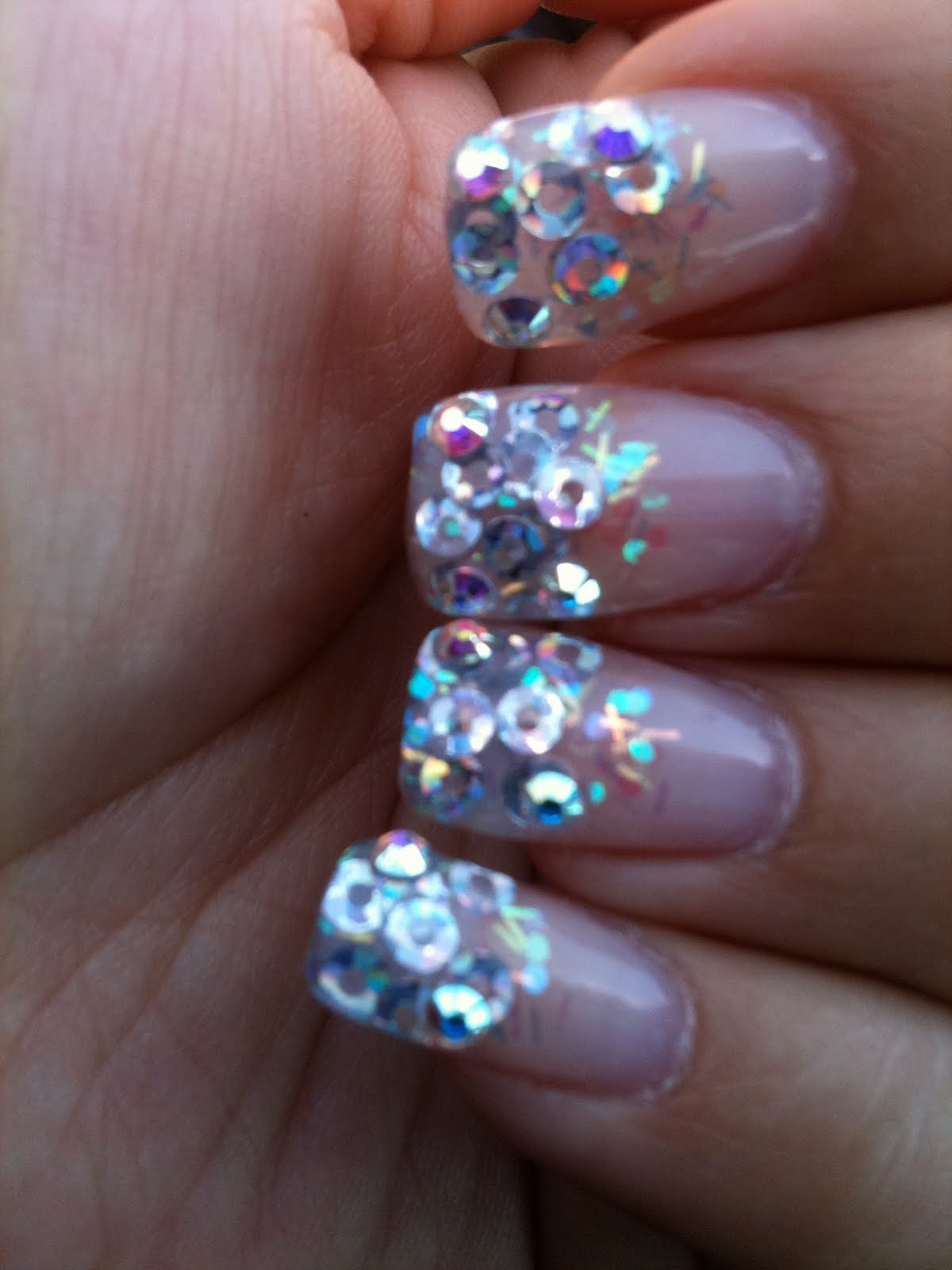 Acrylic Nails With Glitter Tips | www.imgkid.com - The ...