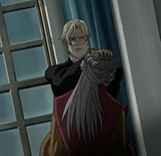 In The Anime It Was Ichiou Who Had Killed President And Concluded That Wanted Vampire Blood For Eternal Beauty Exchange