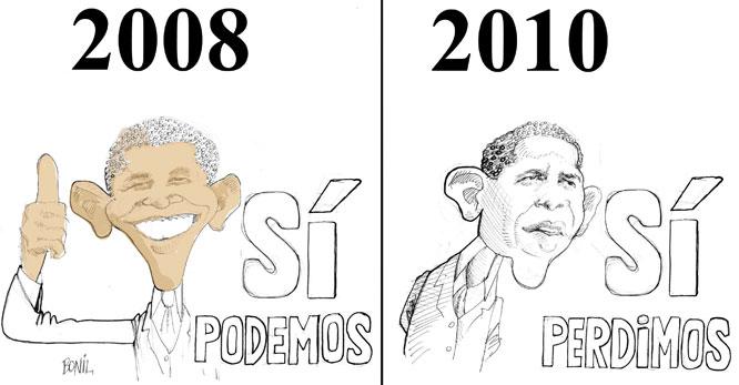 Caricatura periodística de BONIL: Barack Obama