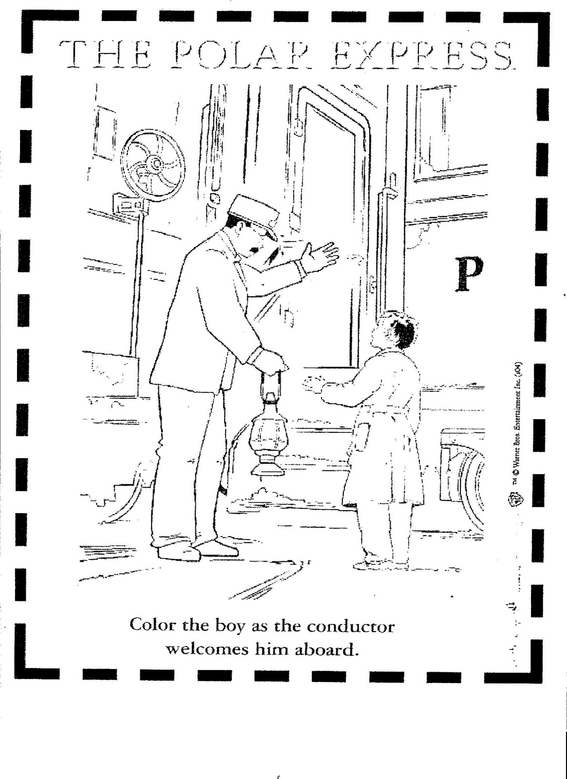 free coloring pages of polar express train