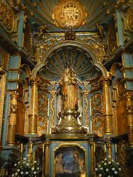 Imagen de la Virgen en la Catedral de Lima