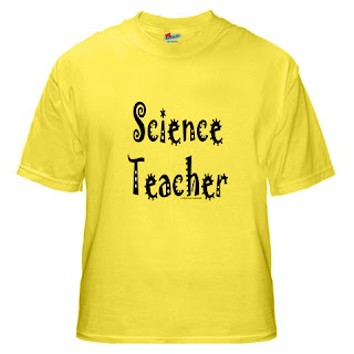 cool science teacher t-shirt with spikey text.