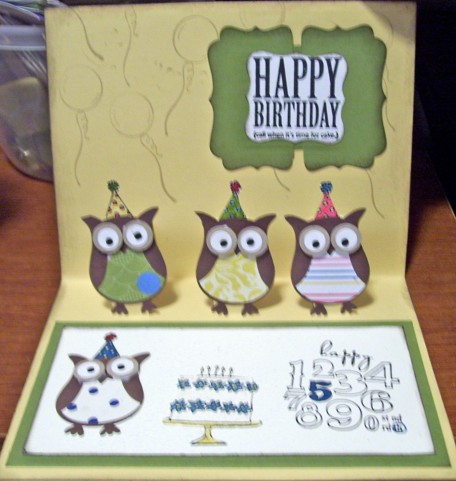 Card Making Ideas Owls Part - 40: Pop Up Valentine Happy Birthday Card
