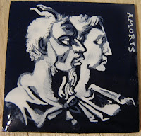 grisaille enamel woman and faun
