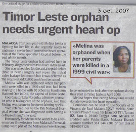 star newspaper. Melina needs urgent heart operation