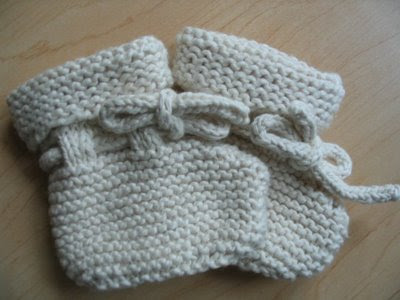 Awesome Free Knitting Pattern For Baby Booties On Two Needles
