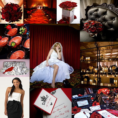 another inspiration boardmy idea of a gothic black and red wedding
