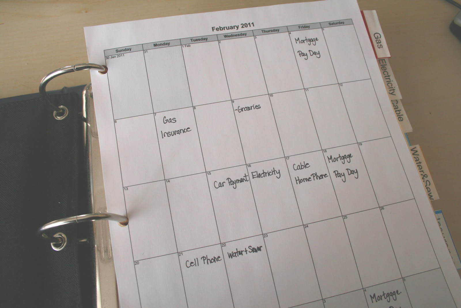 Home Organization Calendar System : Household bill organizer cafemom