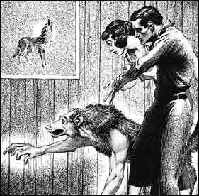 Illustrazione di Virgil Finlay in Weird Tales, dicembre 1936