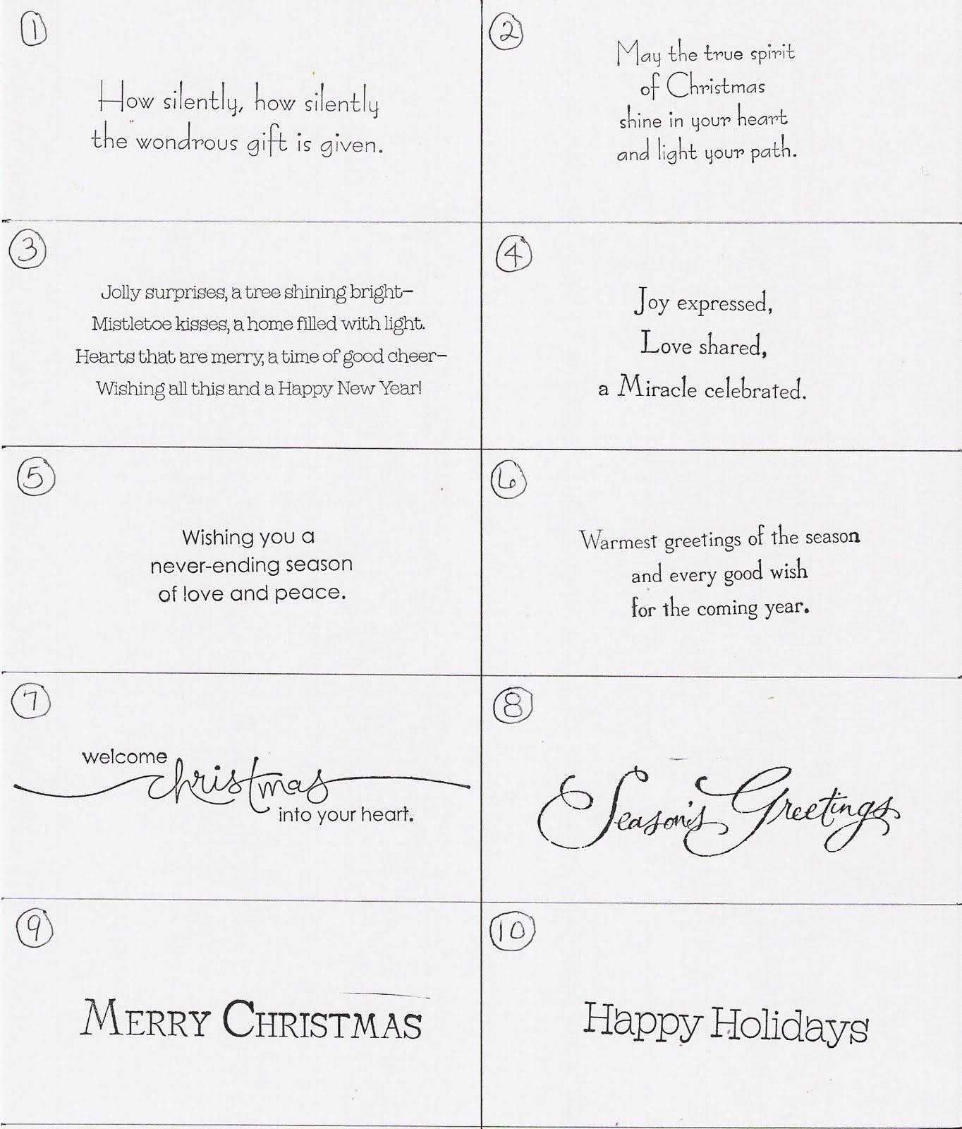Christmas Card Sayings | Holliday Decorations