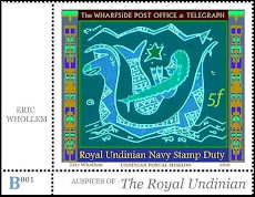 FAUX POSTAGE STAMPS from the mermaid micronation of Undinia