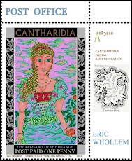 THE ISLAND OF THE MUSE: Cantharidian faux postage stamps