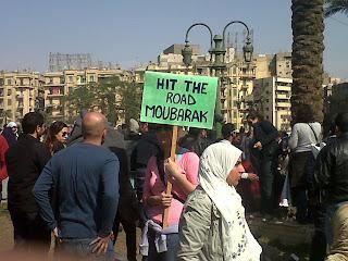Hit the road Mubarak, and dun you come back no more, no more, no more