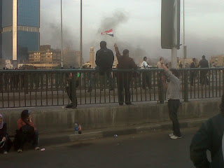 Tear Bombs on 15 May Bridge, 28 January 2011