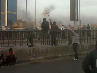 Tear Bombs on 15 May Bridge, 28 January 2011