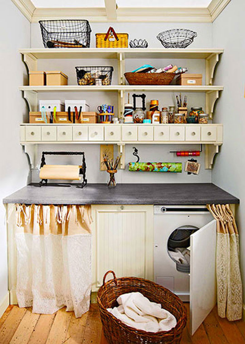 Laundry room storage ideas decorating ideas for Laundry room shelving