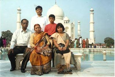 With Bandhu,Misha,Mausaji & Mausiji - November 2001
