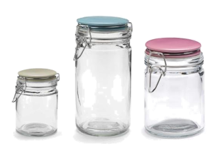 Flip storage jars by Jamie Oliver