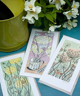 Angie Lewin cards by The Laundry