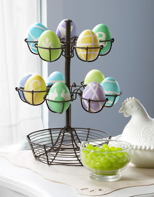 Pretty patterned Easter eggs by Country Living
