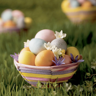 Natural egg dyes by family fun