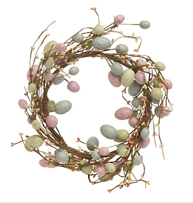 Speckled Eggs Easter Wreath by John Lewis