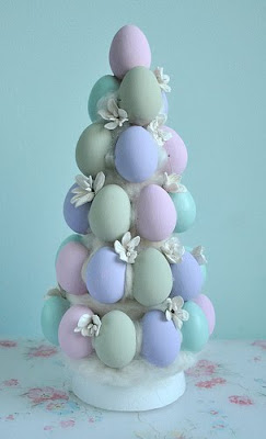 Egg topiary tree by Torie Jayne