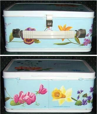Corsage metal lunch box