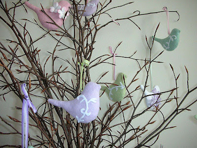 Easter tree close-up