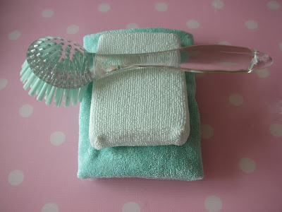 Pale blue cleaning goods from Martha Stewart