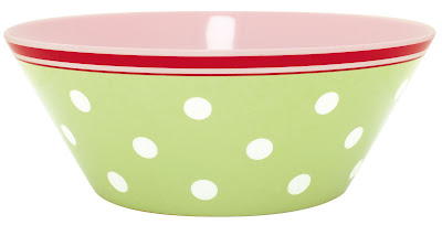 Melamine salad bowl from Greengate