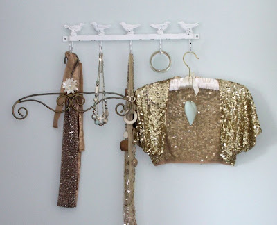 Enchanted bird coat hanger hooks