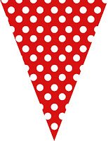 Red polka dot bunting