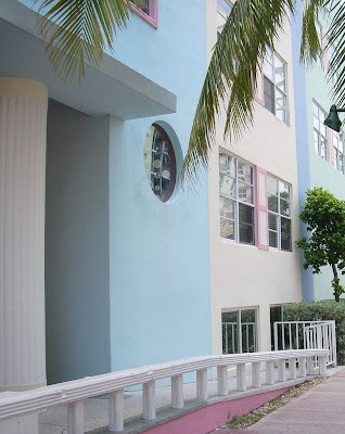 Pastel building in Miami beach