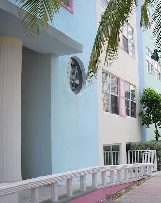 Pastel building in Miami beach