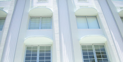 Art deco pastel colours in Miami beach